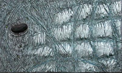 gemaelde sfera-1 italien meersand meer holz glas löwenmäulchen fantasie landschaft abstrakt heidelberg