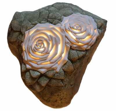 lampe rose 2 weiser kalkstein meeresfund italien neu auf antik